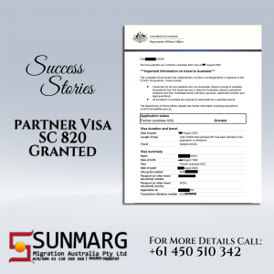 Partner visa granted to the couple after being refused
